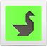 Tangram puzzle #16 : Swan - www.tangram-channel.com
