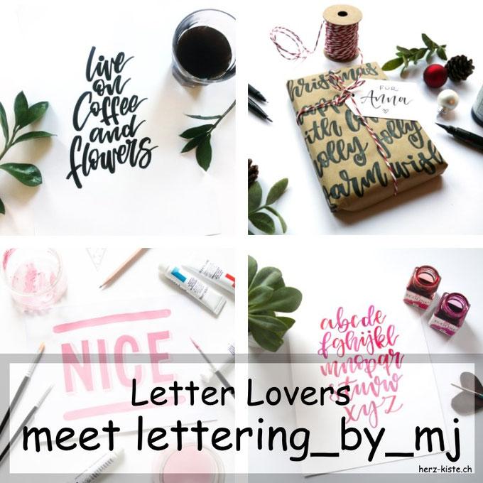 Letter Lovers: lettering_by_mj zu Gast im Lettering Interview mit einer Anleitung um Geschenke hübsch zu verpacken