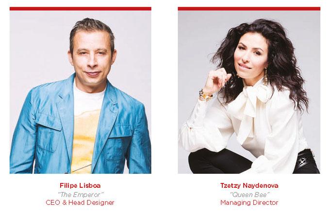 Designer Filipe Lisboa und Tstzy Naydenova