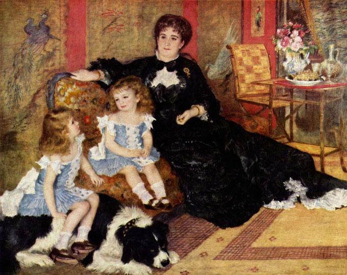 《シャルパンティエ夫人とその子どもたち》1878年