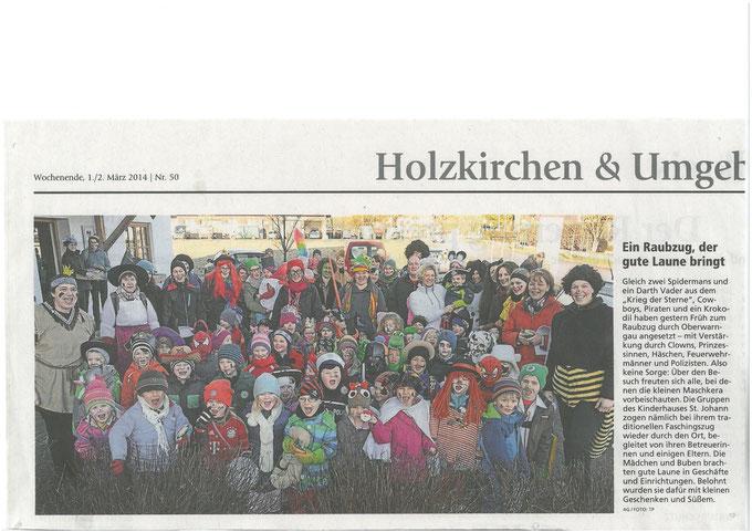 Foto vom Faschingszug durch Warngau im Münchner Merkur