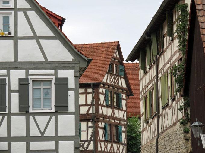Fachwerkhäuser in der Altstadt von Bietigheim