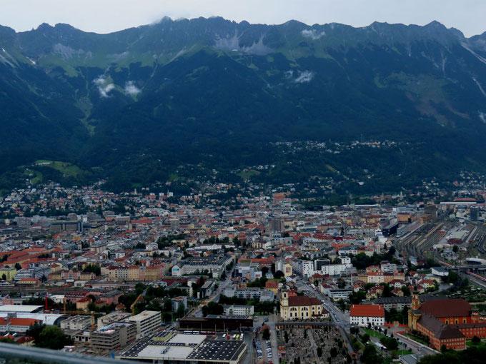 Blick auf Innsbruck vom Bergisel