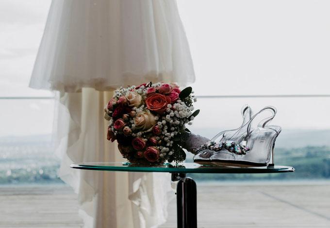 Brautschuhe mit Ausblick auf Wien