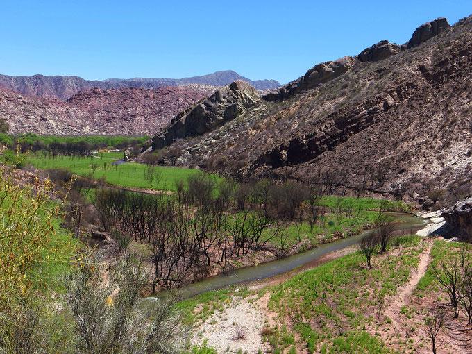 Gibt es Wasser, ist das Tal wunderschön grün.