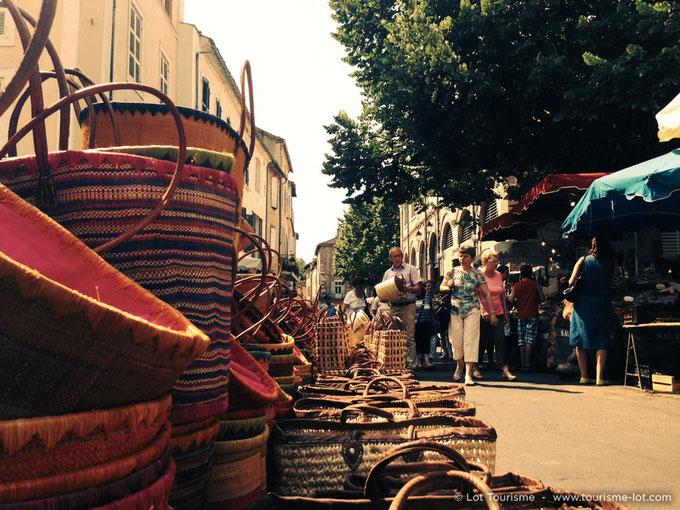 Marché de Cahors © Lot Tourisme A. Druine