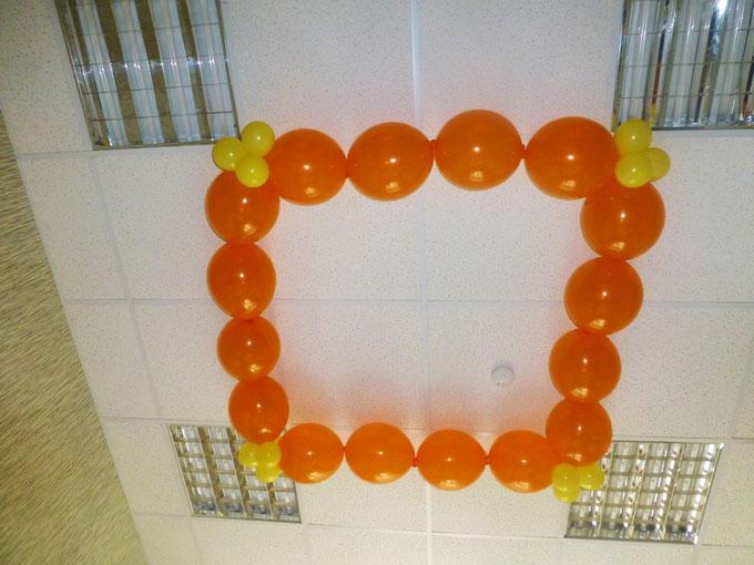 воздушные шары с гелием под потолок