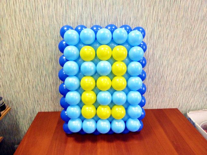 Создание панно из воздушных шаров