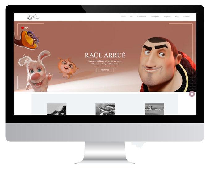 Página web del ilustrador Raül Arrué
