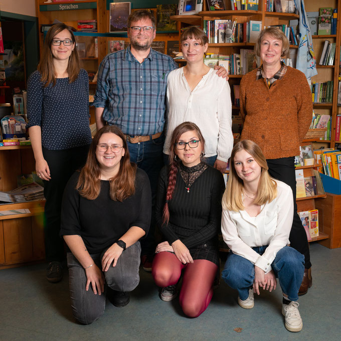 Das Team der Buchhandlung Back im Oktober 2020
