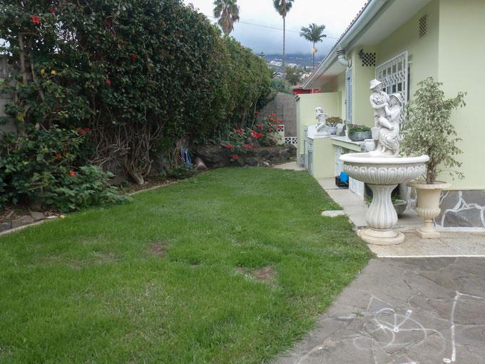 Garten im Eingangsbereich
