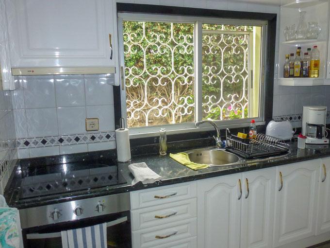 Küche mit Garten-Blick