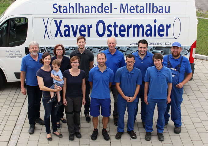 Metallbau, Stahlhandel, Aresing, Schrobenhausen, Team, Balkongeländer, Treppengeländer, Eisen, Metall, Ostermaier, Metallhandwerk, Qualität, modern, hochwertig