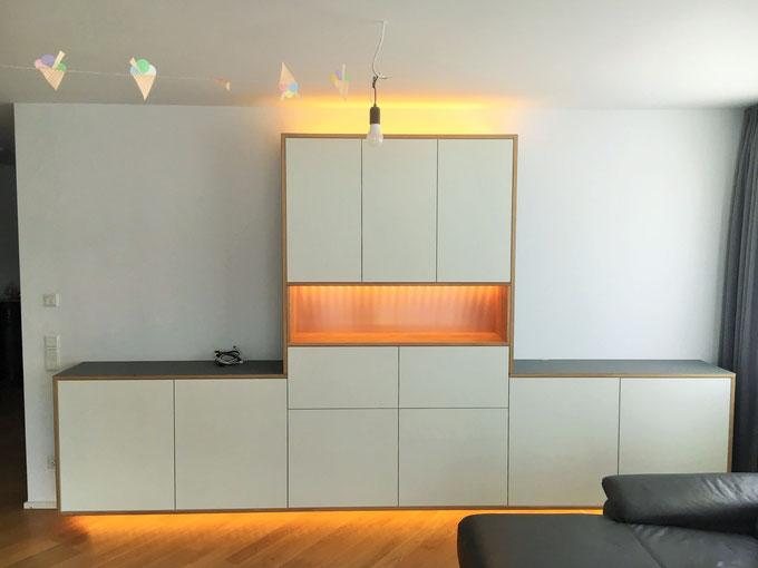 Schrank, Holz, Kupfer, Tischler, Möbel, Köln, LED