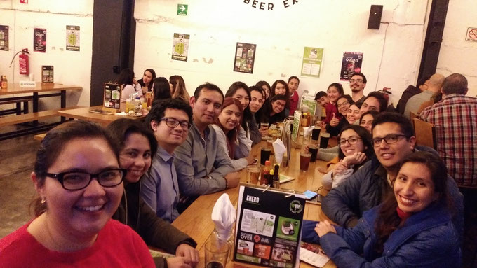 Dinner of DIFACQUIM research group and friends. Mexico City, January 24