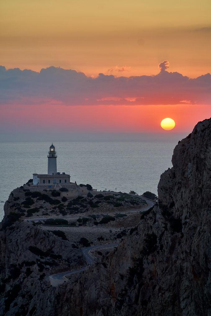 Mallorca Fotospot Cap Formentor beim Sonnenaufgang fotografiert