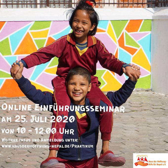Online Einführungsseminar am 25. Juli 2020 von 10-12.00 Uhr