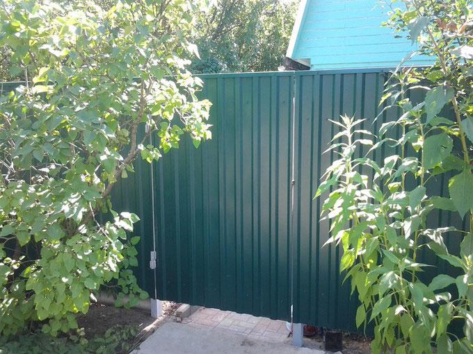Заборы из профнастила в верее распашные ворота horiza москва