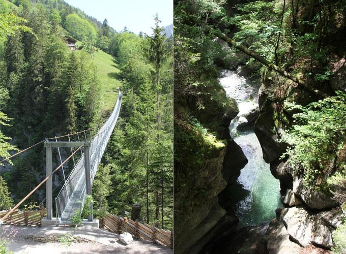 Abbildung 14: Hängebrücke Leiternweide und Bunschenschlucht