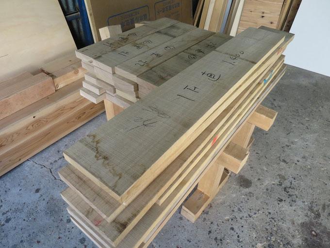 タモの階段の製作前にまずは木取です