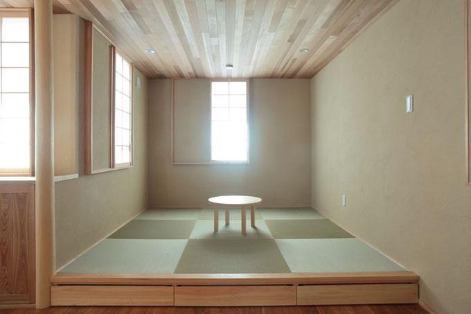 和の雰囲気の畳コーナーは障子や珪藻土の塗壁と相性が良いです