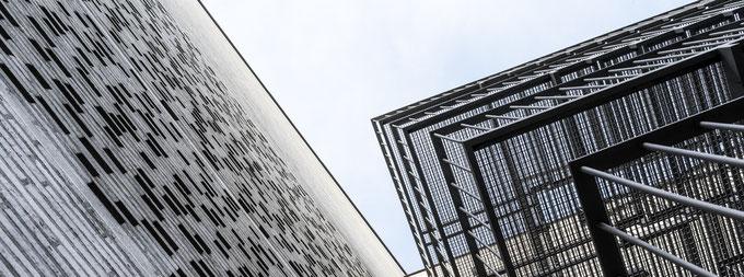 Detailaufnahme des Kolumba Museums in Köln im Panorama-Format