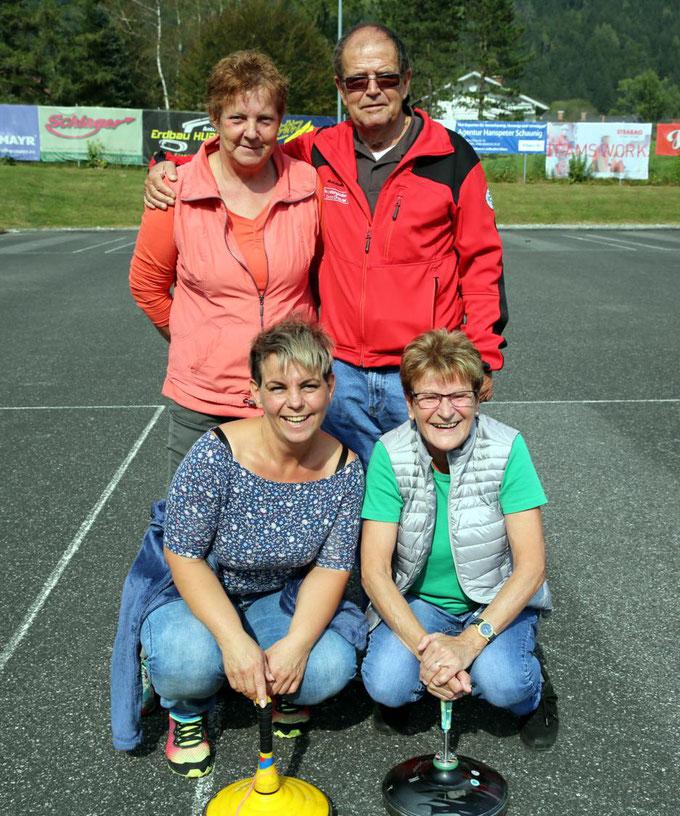 8. Rang - vorne  A. Ebenberger, D. Thaler - hinten - M. Wassermann, H. Thaler