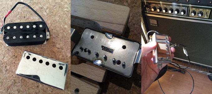 ハムバッキングは金属カバーを付けることが出来ます