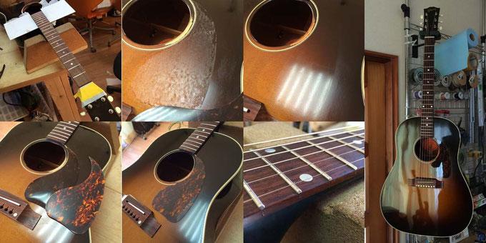 Gibson J-45 フレット交換&P.G.交換