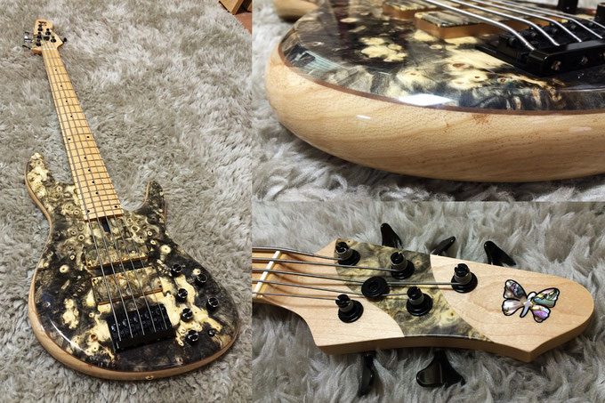 Fodera NYC Buckeye Burl Customized