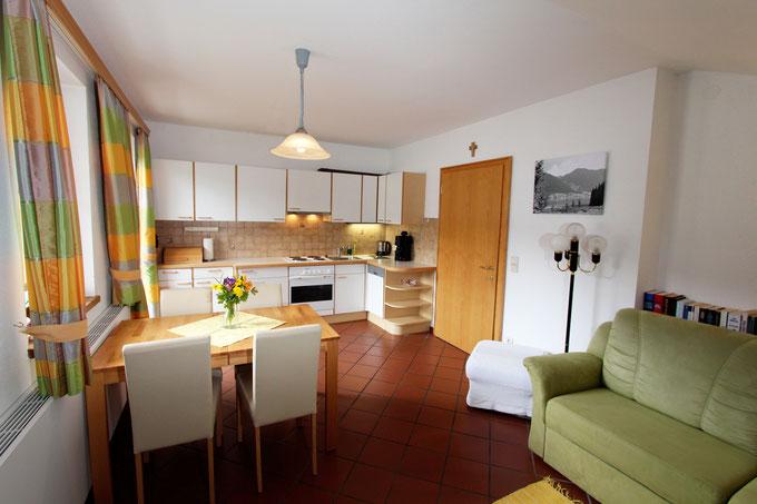 Haus Aichholzer - Neusach - Weissensee - Kaernten - Wohnung A - Wohnzimmer