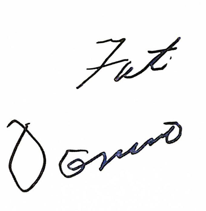 Autograph Fats Domino Autogramm