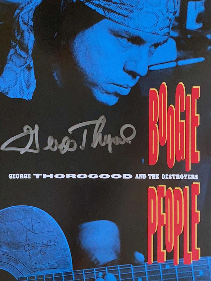 Autograph George Thorogood Autogramm