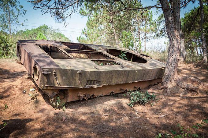 Restos del tanque ruso.