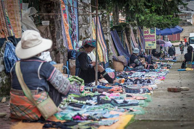 Mercado H'mong en Sapa