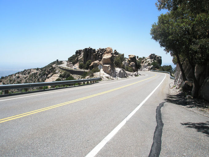 The route to the Sky Center - The Catalina Highway