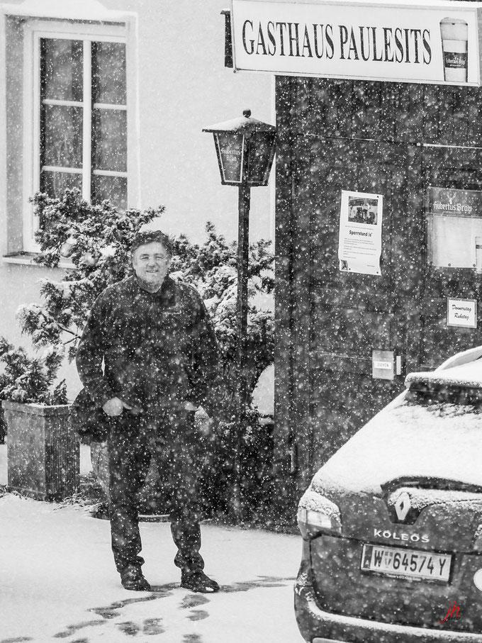 Schneegestöber am letzten Tag, 29 Jänner 2020
