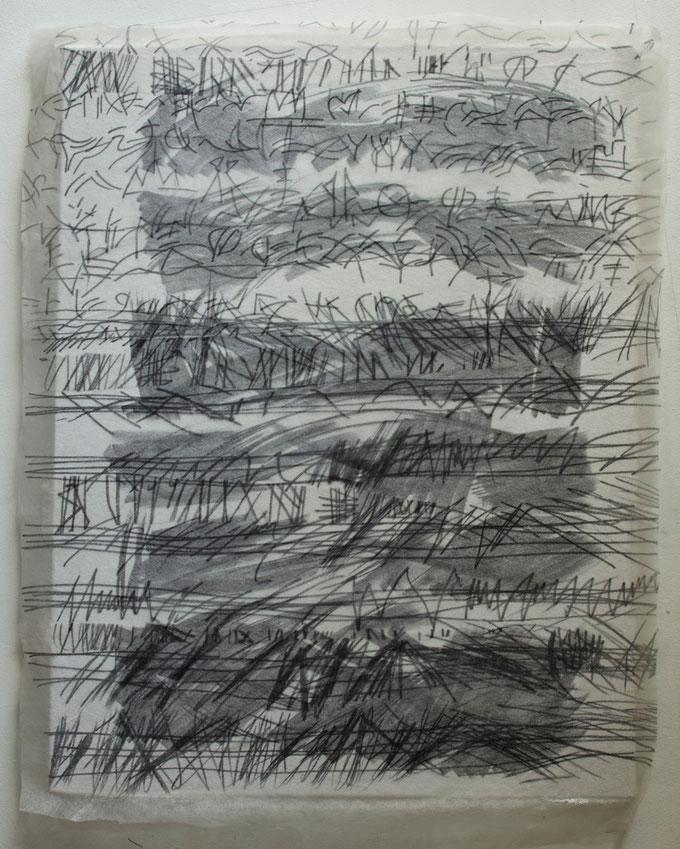 sound cluster  2010     felt pen  fleece material  on canvas        79 x 90 cm