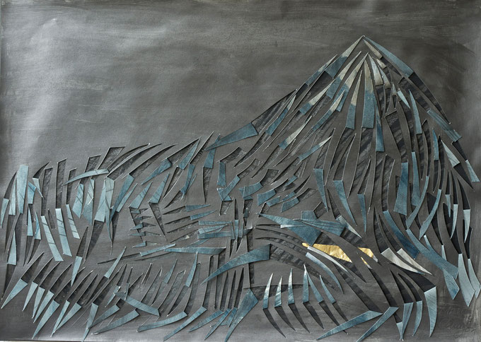 canigou  2014    graphite  gouache  on  paper    50  x  70   cm