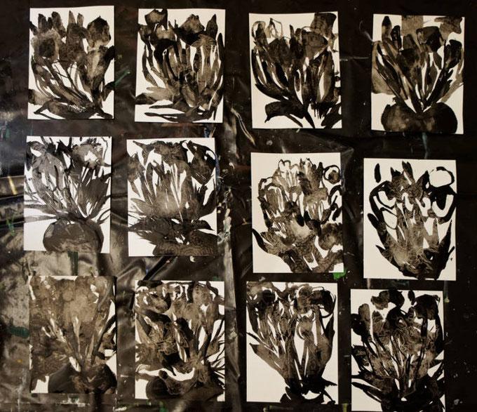 travail en cours : série de tulipe