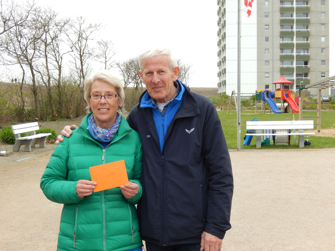 Renate Dyck und Otto Hansen - Geest-Bouler Breklum - 2. Platz Jubiläums-Turnier Büsum