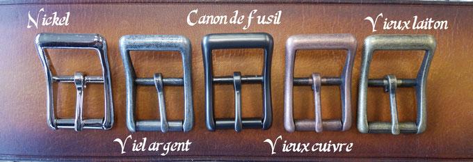 Les différentes finitions des boucles à rouleau 25 mm
