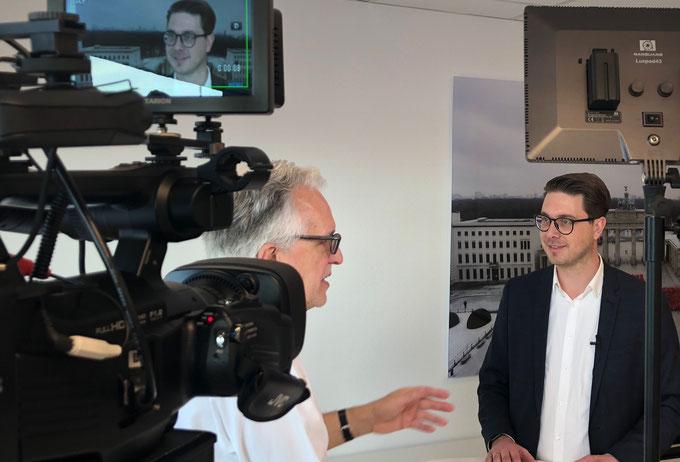 Medientraining Interviewtraining Kameratraining mit Peter Rueben