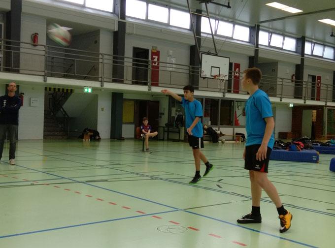 Thies, Ali und Erik sind Vize-Landesmeister im Volleyball 2019.