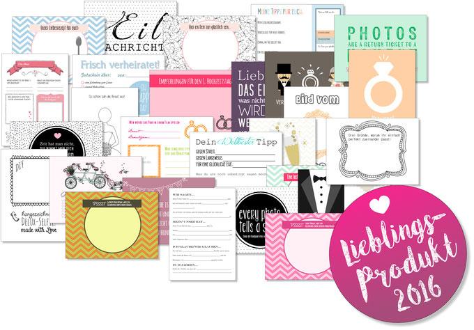 Hochzeitsspiel: 52 Postkarten Delux - 1 Jahr lang Grüße