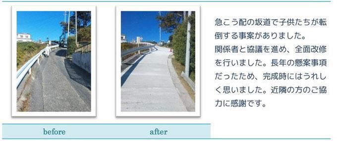 コンクリートで道路を改修しました