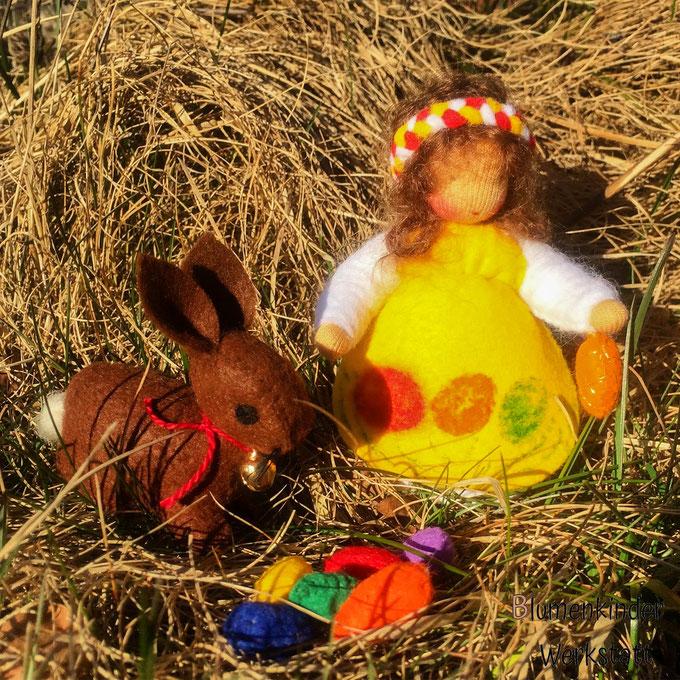 Blumenkinderwerkstatt Osterkind mit Häschen