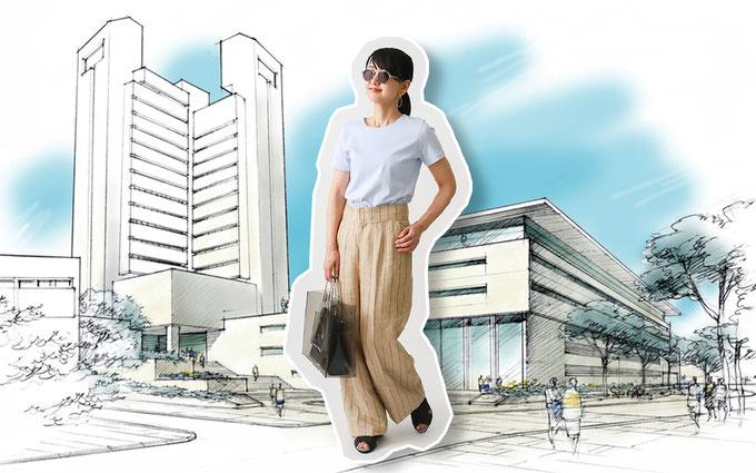 デザイン、カラバリ豊富なドゥクラッセTシャツで  2019夏コーデとお出かけ計画! 『クルーネック半袖』で出社