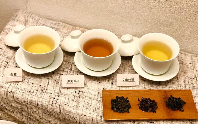 台湾の春水堂が厳選した台湾茶3種類