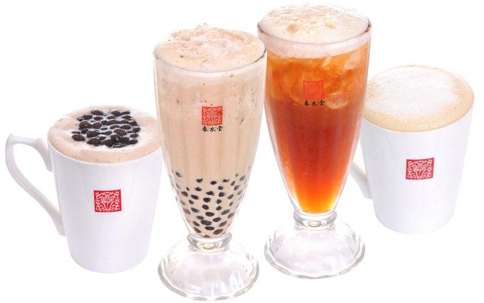 春水堂(チュンスイタン)はタピオカミルクティーの発祥、フレッシュティーや特性ラテ、本格台湾茶なども楽しめます。